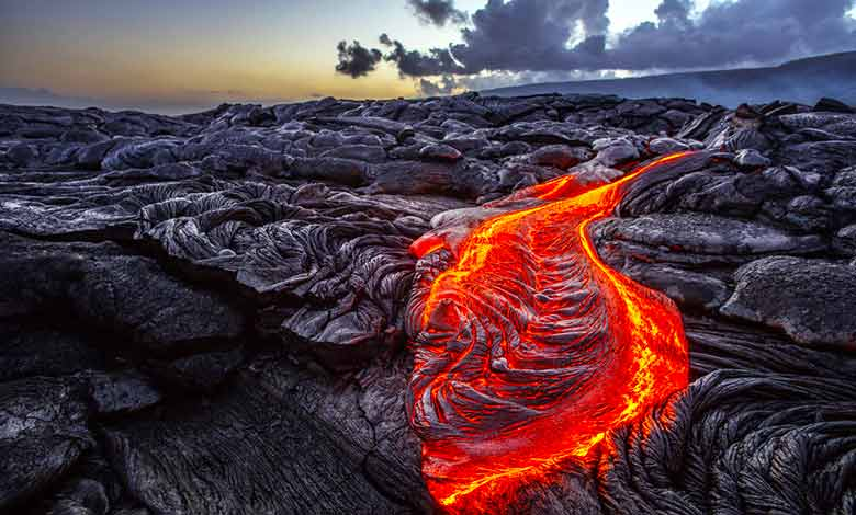 What is lava flow