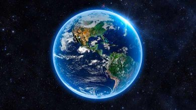 Why does the earth look blue from space